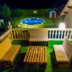 Terraza nocturna casa los Pedroches